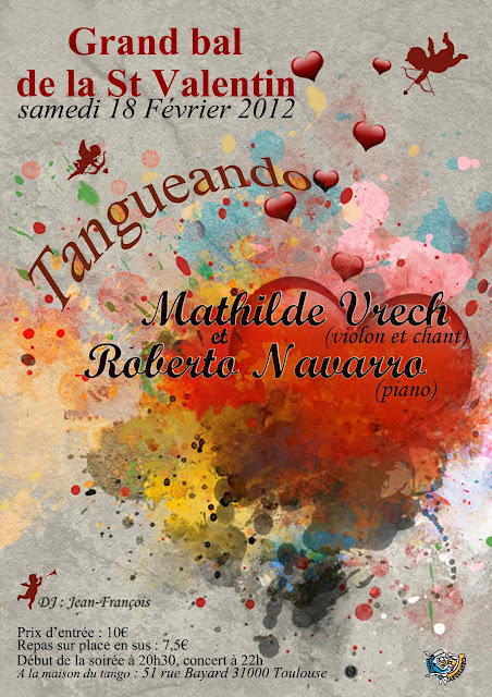 Affiche Tangueando 2012 St Valentin