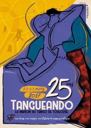 Vignette Affiche 25 ans Tangueando Bleue