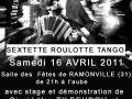 Affiche Tangueando 2011 Ramonville
